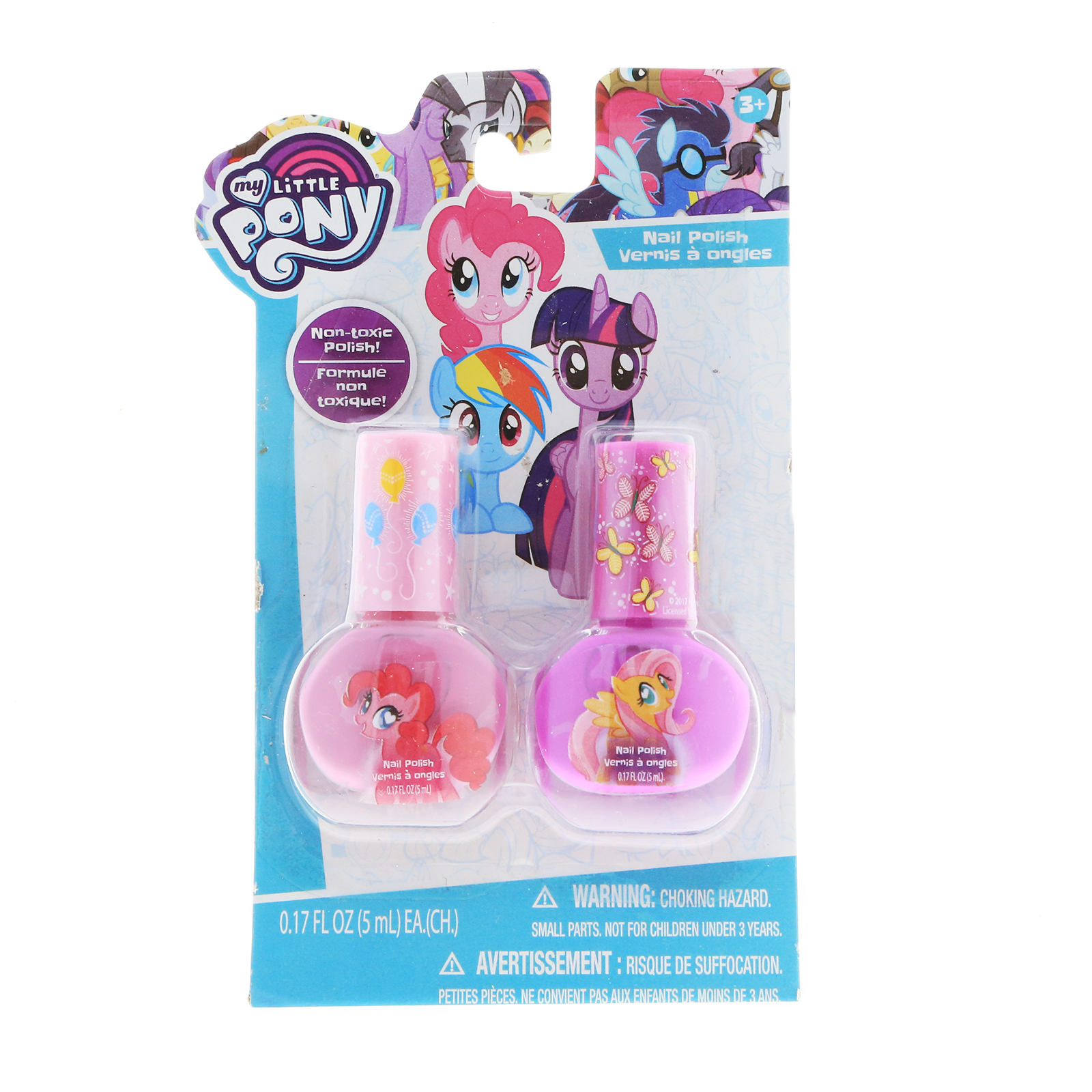My Little Pony Girls Nail Polish 2pk Dress Up Beauty Gift Set