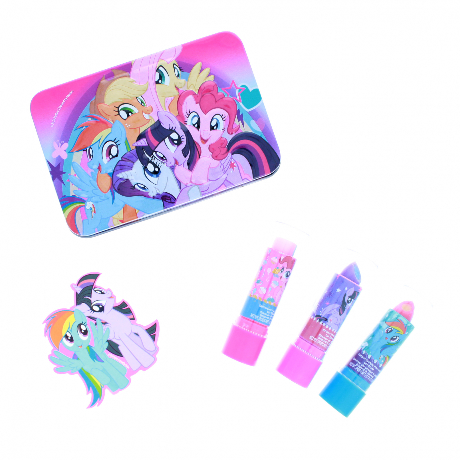 My Little Pony Lip Gloss Cosmetic 5 Piece Set With Tin