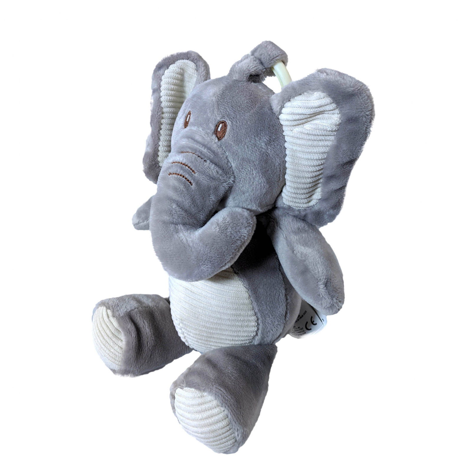 TychoTyke Clip On Baby Rattle Pram Accessory Grey Elephant