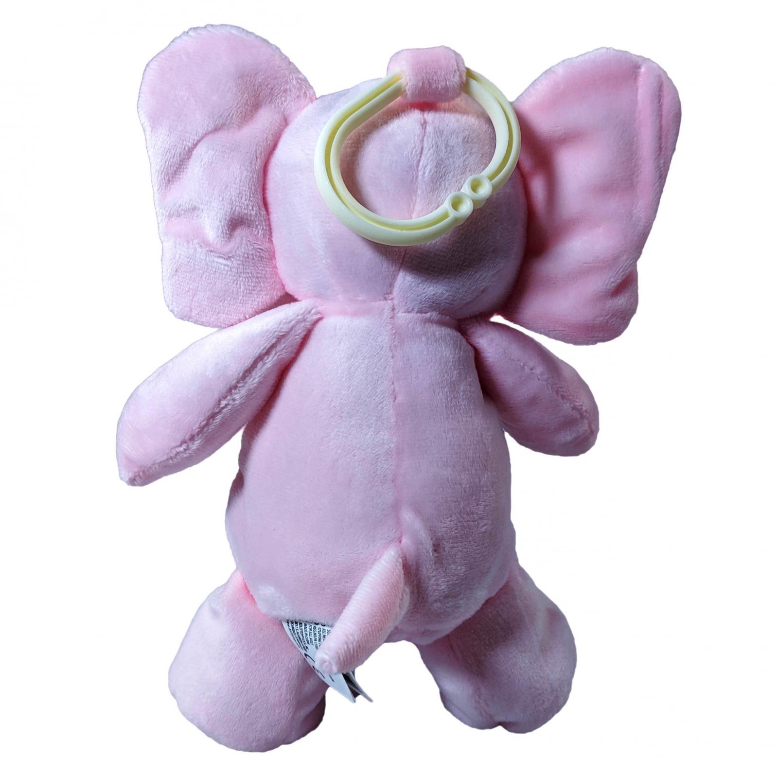 TychoTyke Clip On Baby Rattle Pram Accessory Pink Elephant