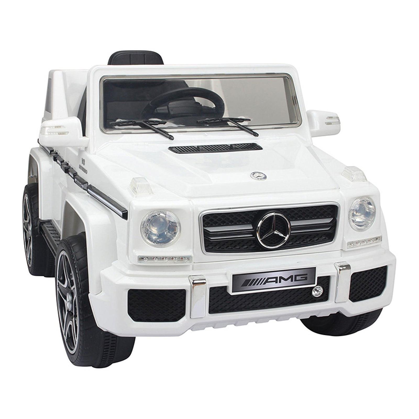 Mercedes G-63 12V Kids Ride On Car - White