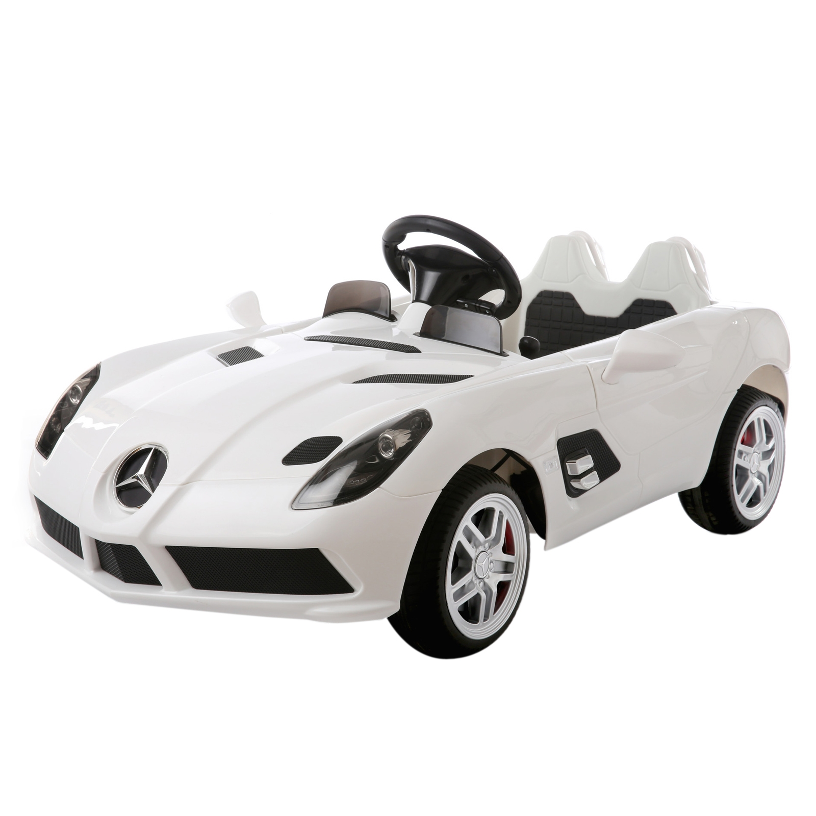 12V Mercedes Benz SLR Officially Licsensed Ride On - White