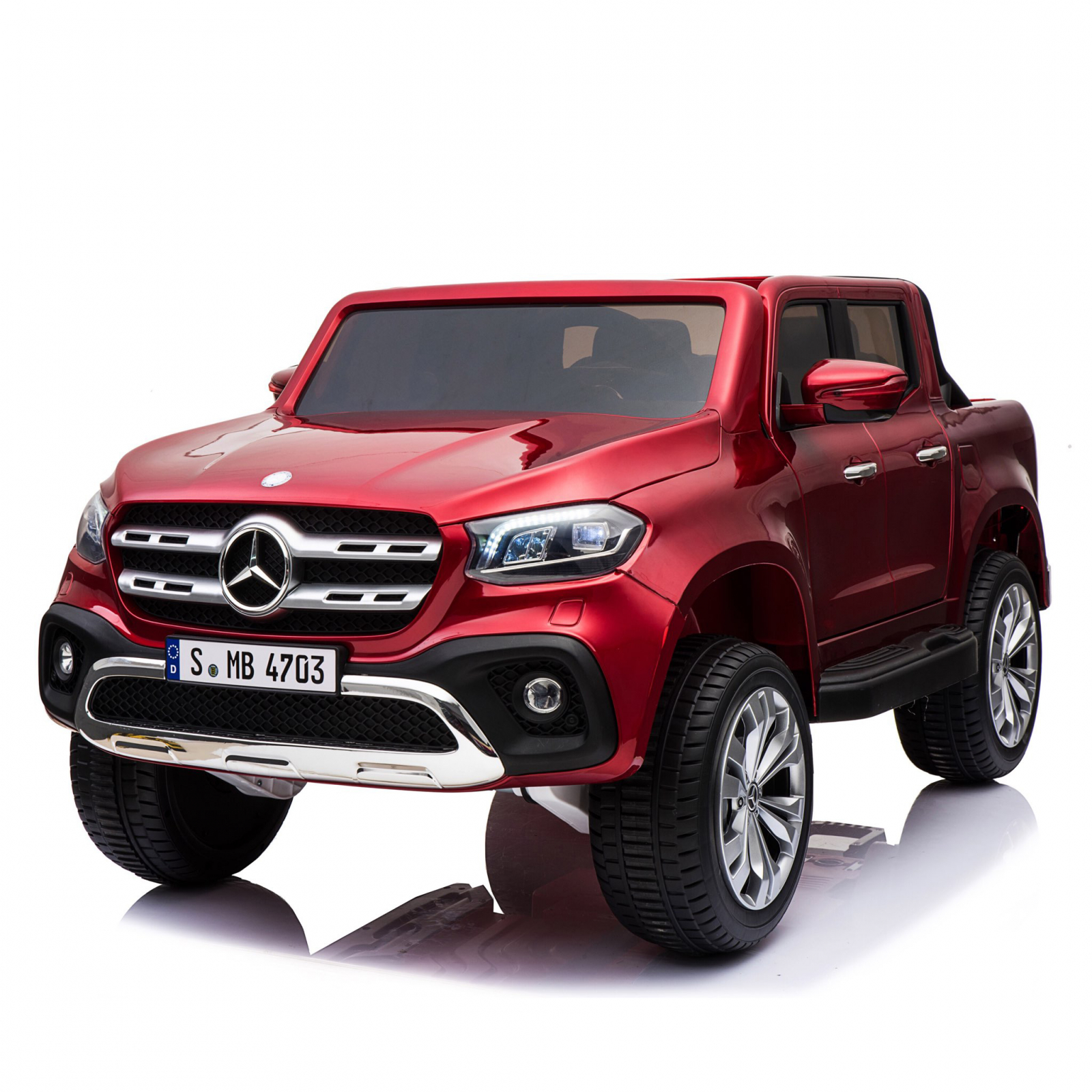 Mercedes X Class Truck Kids Ride On Car Burgundy Paint