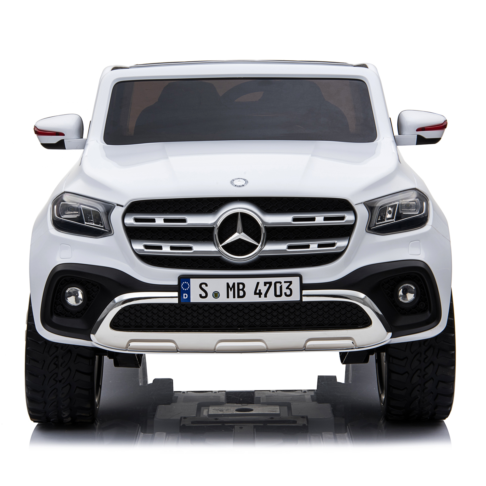 Mercedes X Class Truck Kids Ride On Car White Paint