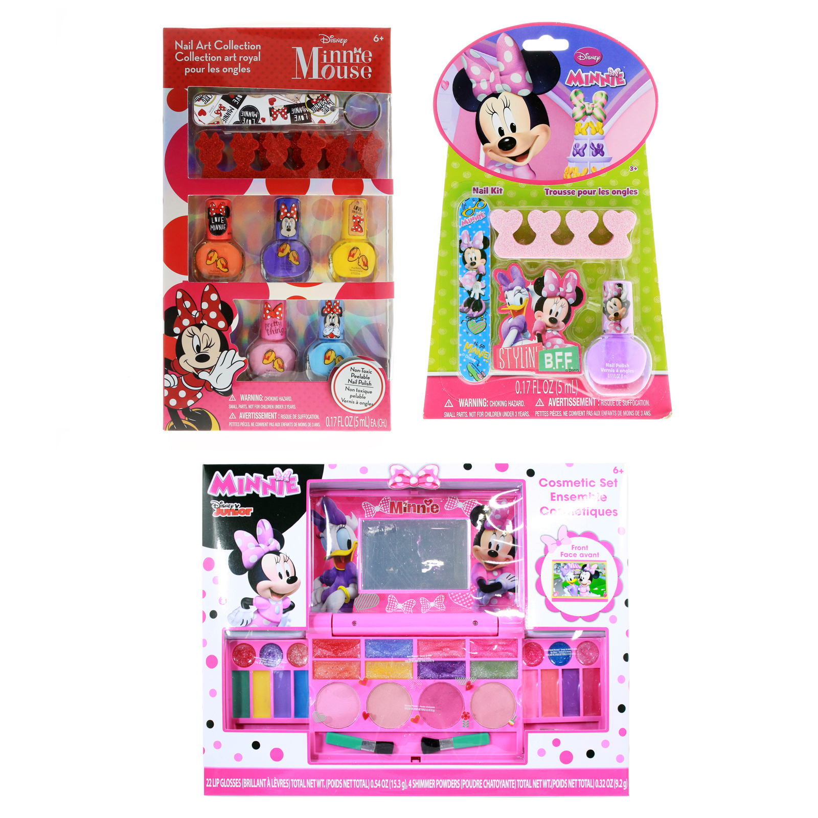 Disney Minnie Mouse Girls Dress Up Gift Set Nail Art 37pc