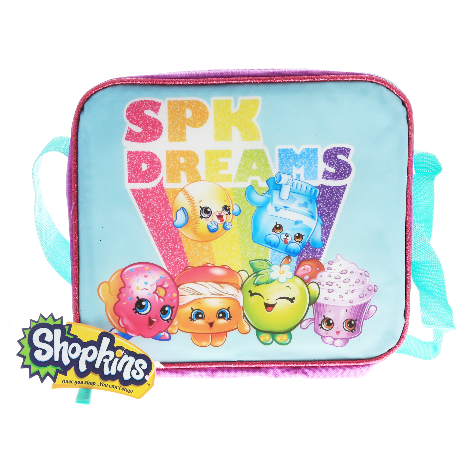 Shopkins SPK Dreams Insulated Lunch Bag with Strap Girls Bag - Blue