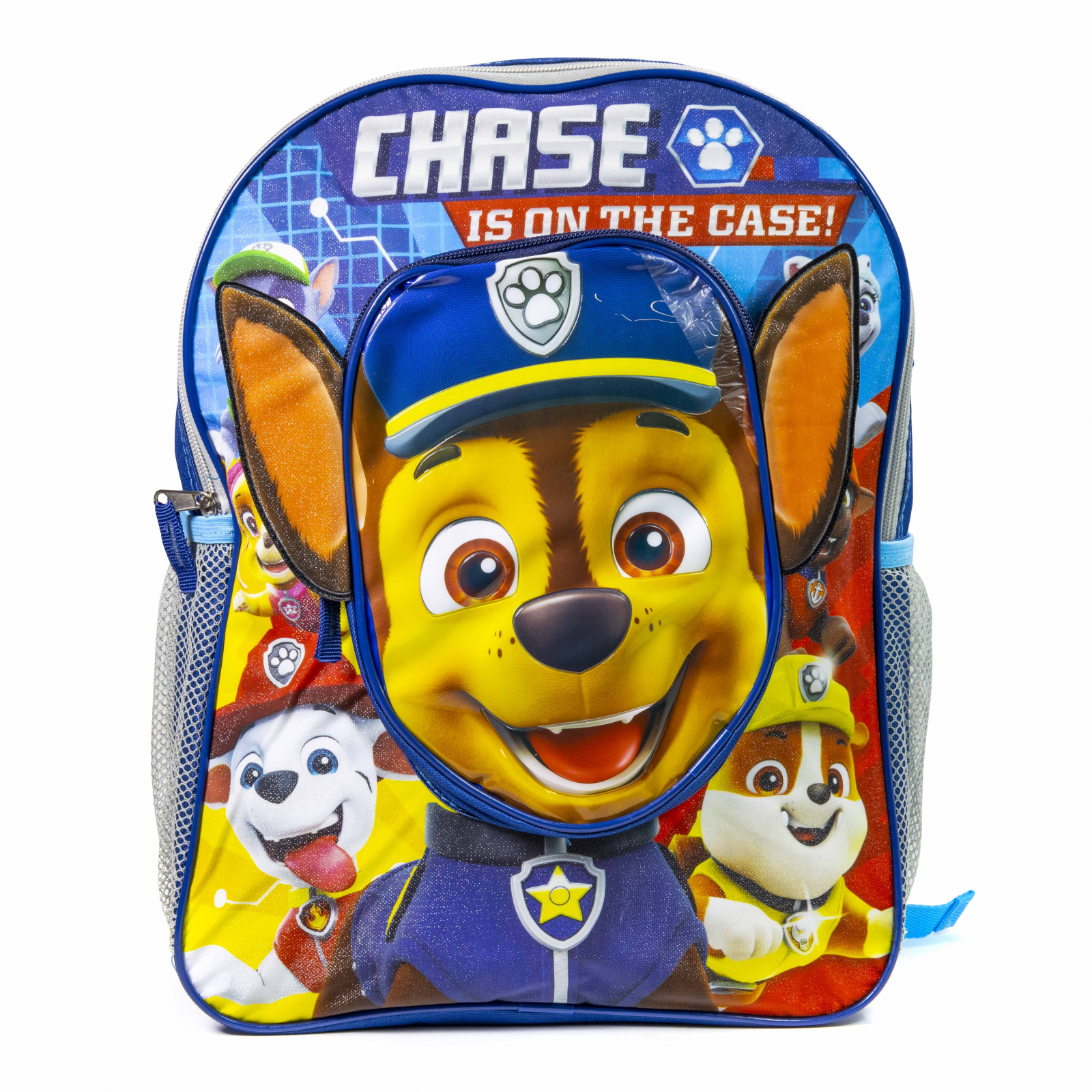 Paw Patrol 16 Inch School Kids Backpack Front Chase Pocket