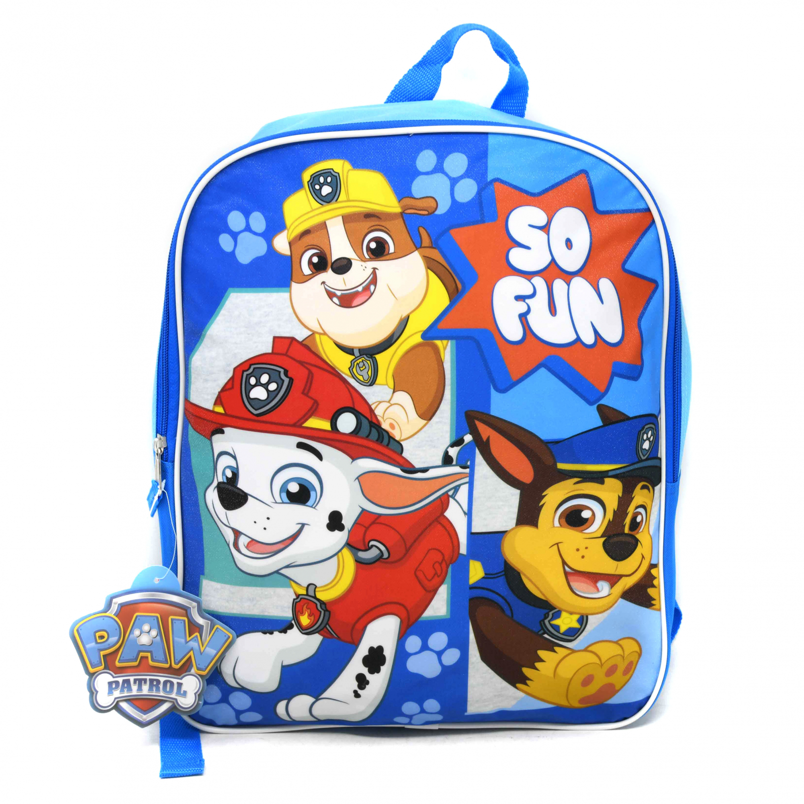Paw Patrol 15 Inch Kids School Backpack with Dogs