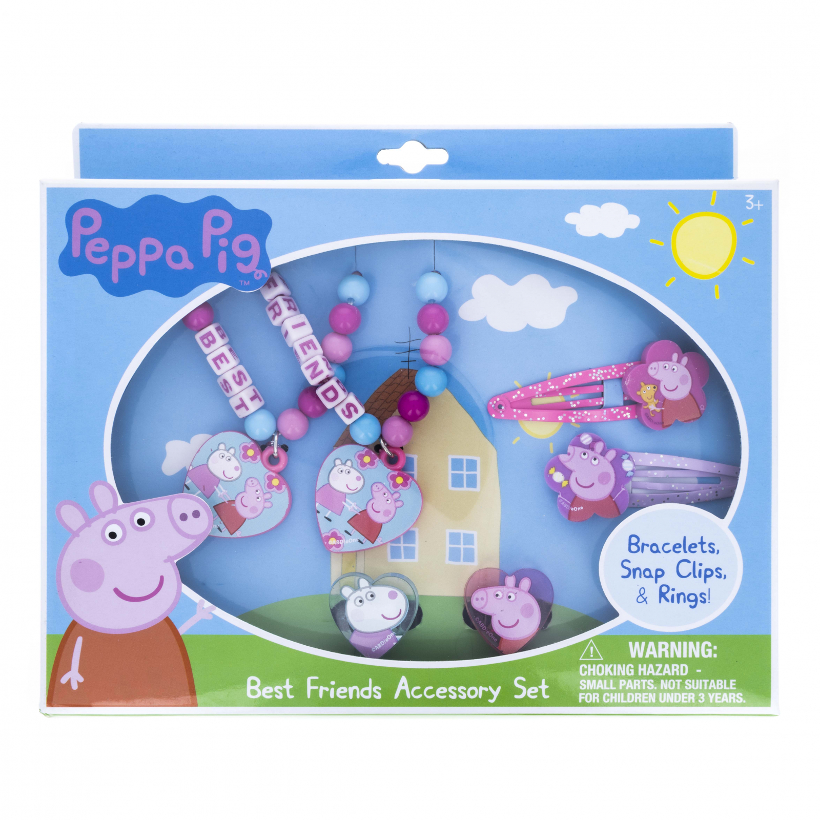 Peppa Pig Best Friends Jewelry and Hair Accessories Kit 6pc