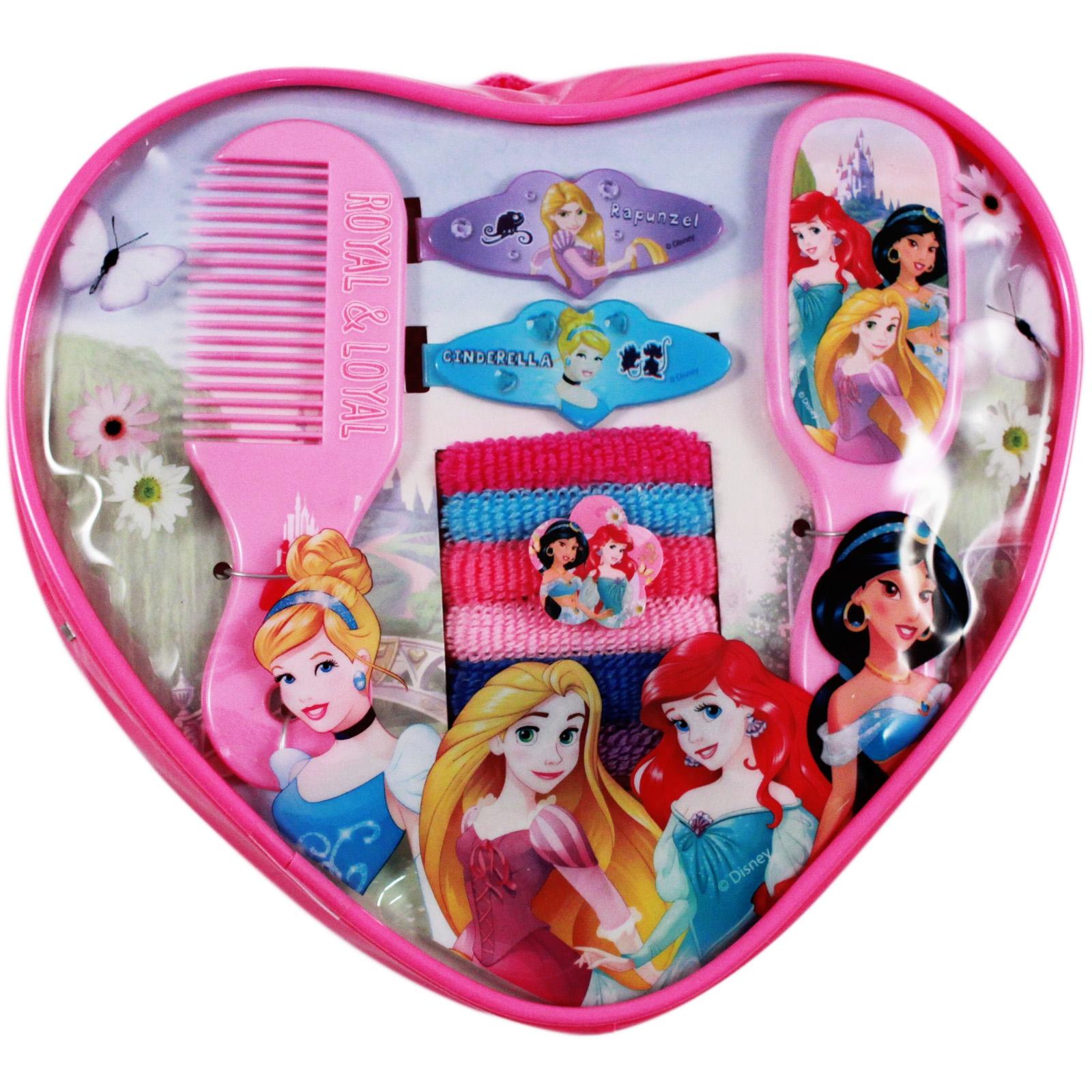 10pc Disney Princess Heart Shaped Hair Accessory Backpack