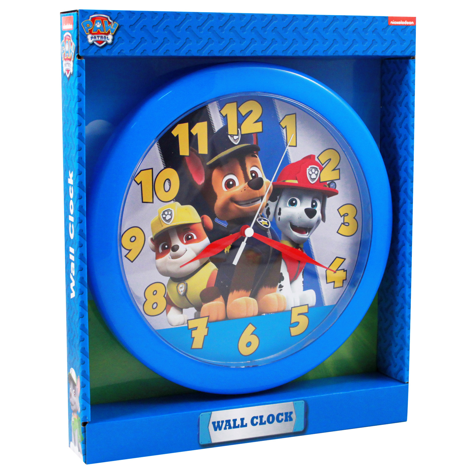Nickelodeon paw patrol analog wall clock kids decor 10 inch nickelodeon paw patrol analog wall clock featuring chase marshall rubble 10 inch children home amipublicfo Gallery
