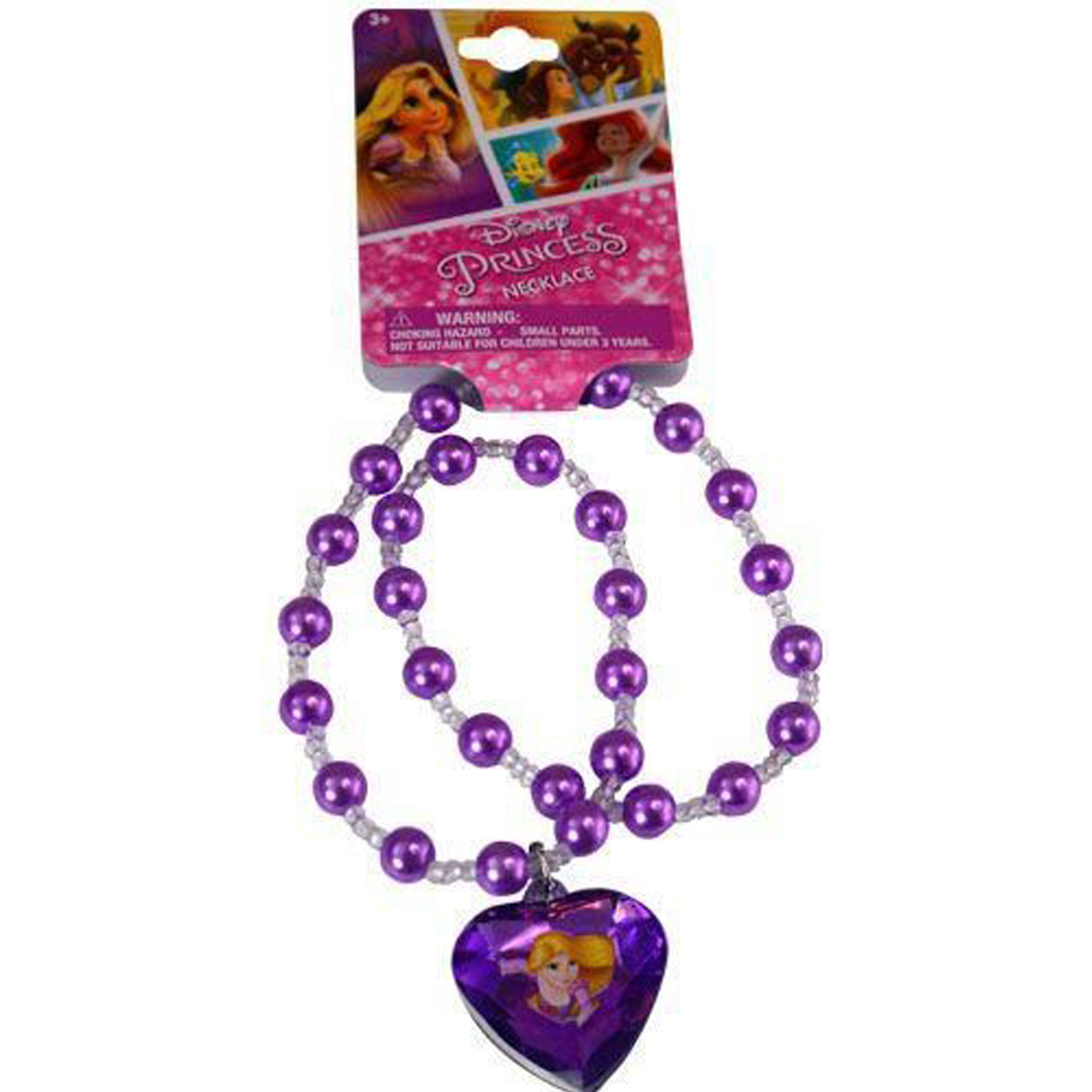 Disney Princess Girls Pearl Necklace Jewelry Rapunzel