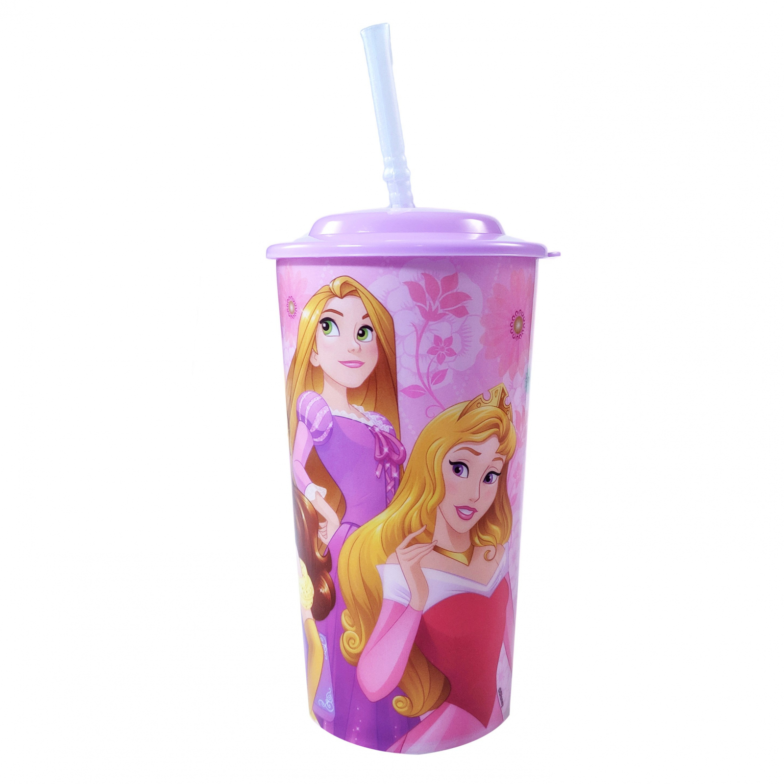 Disney Princess 16oz Sports Tumbler with Lid and Straw Girls