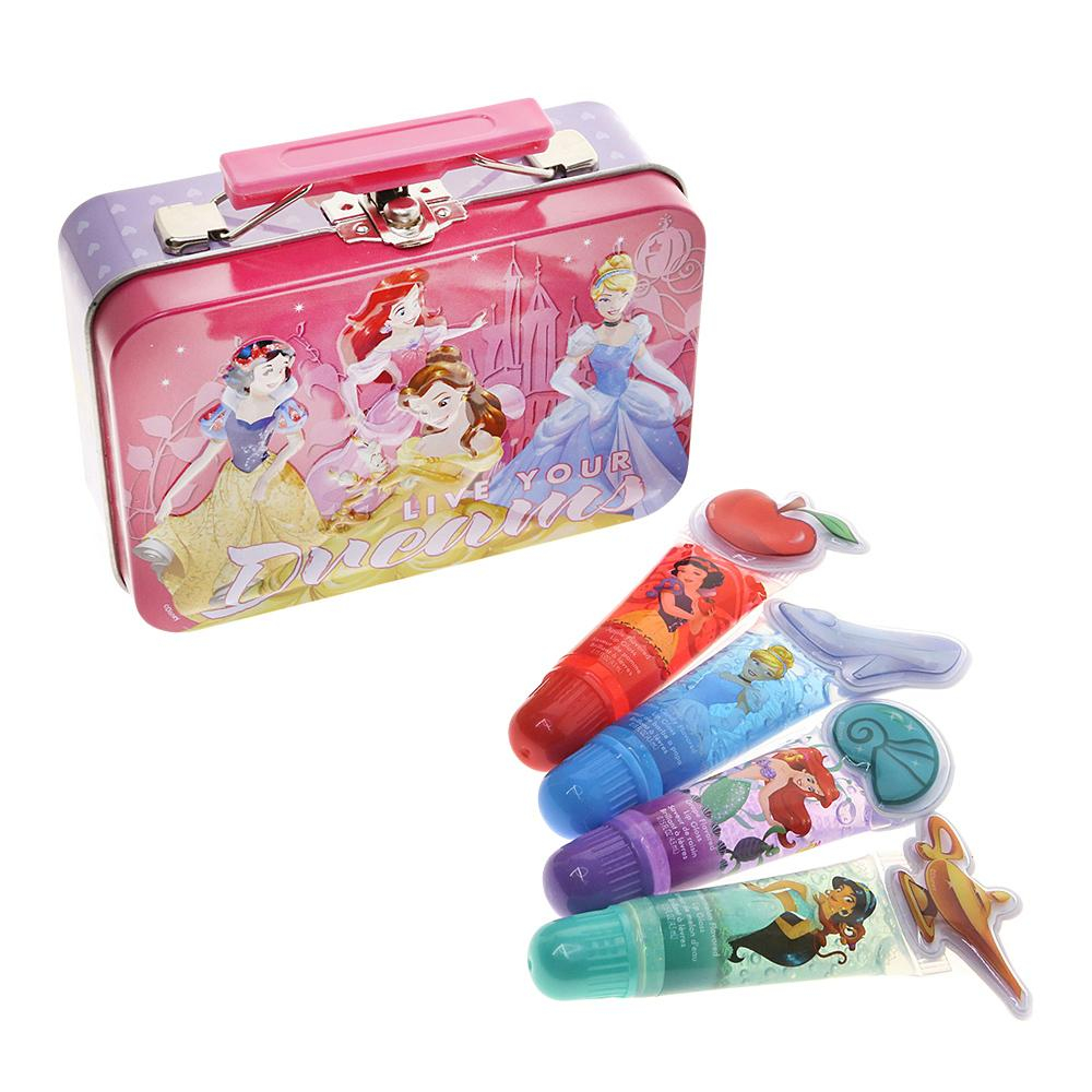 Disney Princess Live Your Dreams Role Model Beauty Set 4 Piece Lip Gloss Tin Set