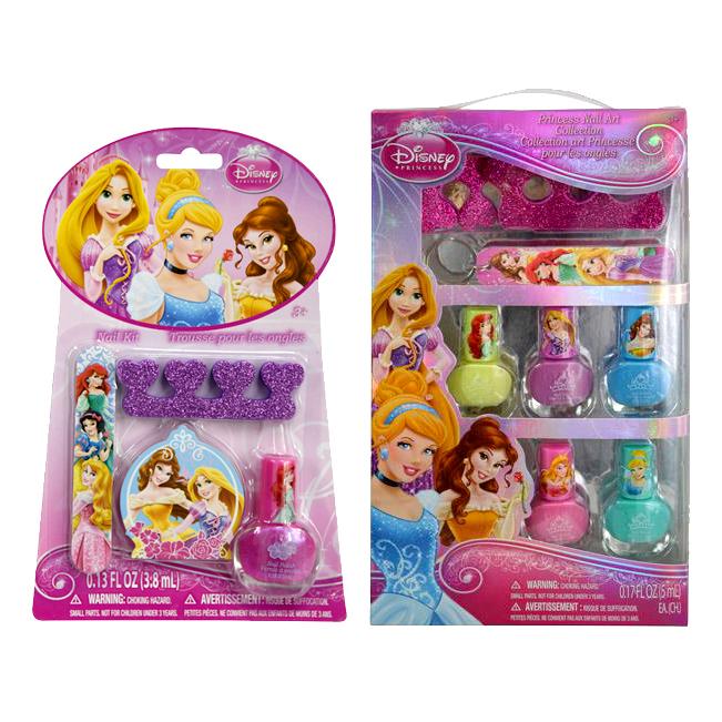 Disney Princess Dress Up Nail Polish Manicure Bundle Set