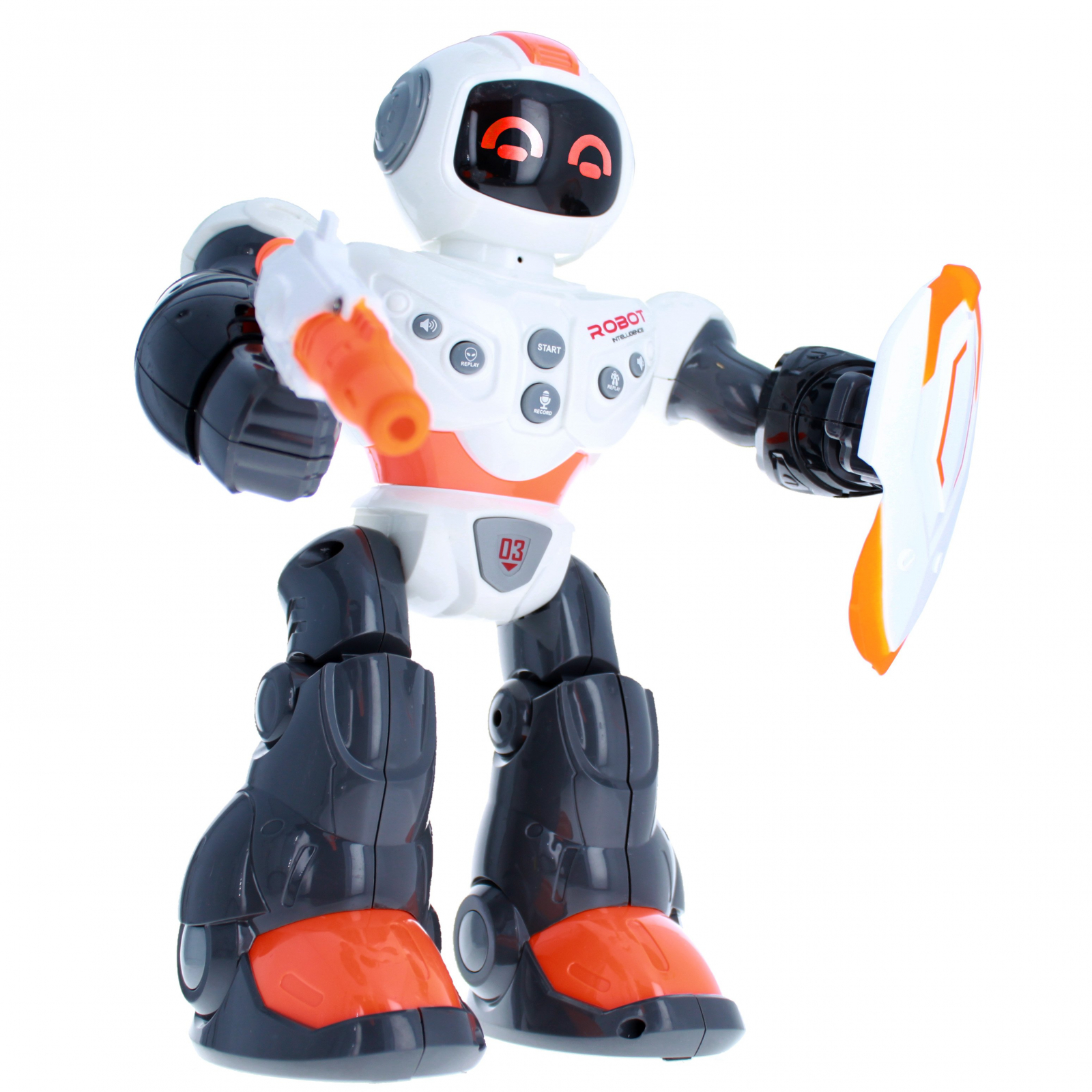 Armor Robot with Light and Sound White