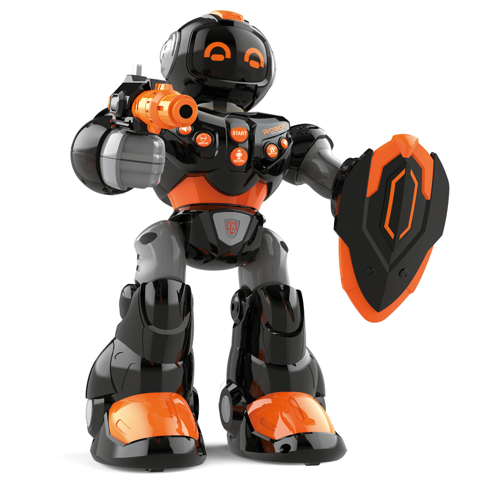 Armor Robot with Light and Sound Black