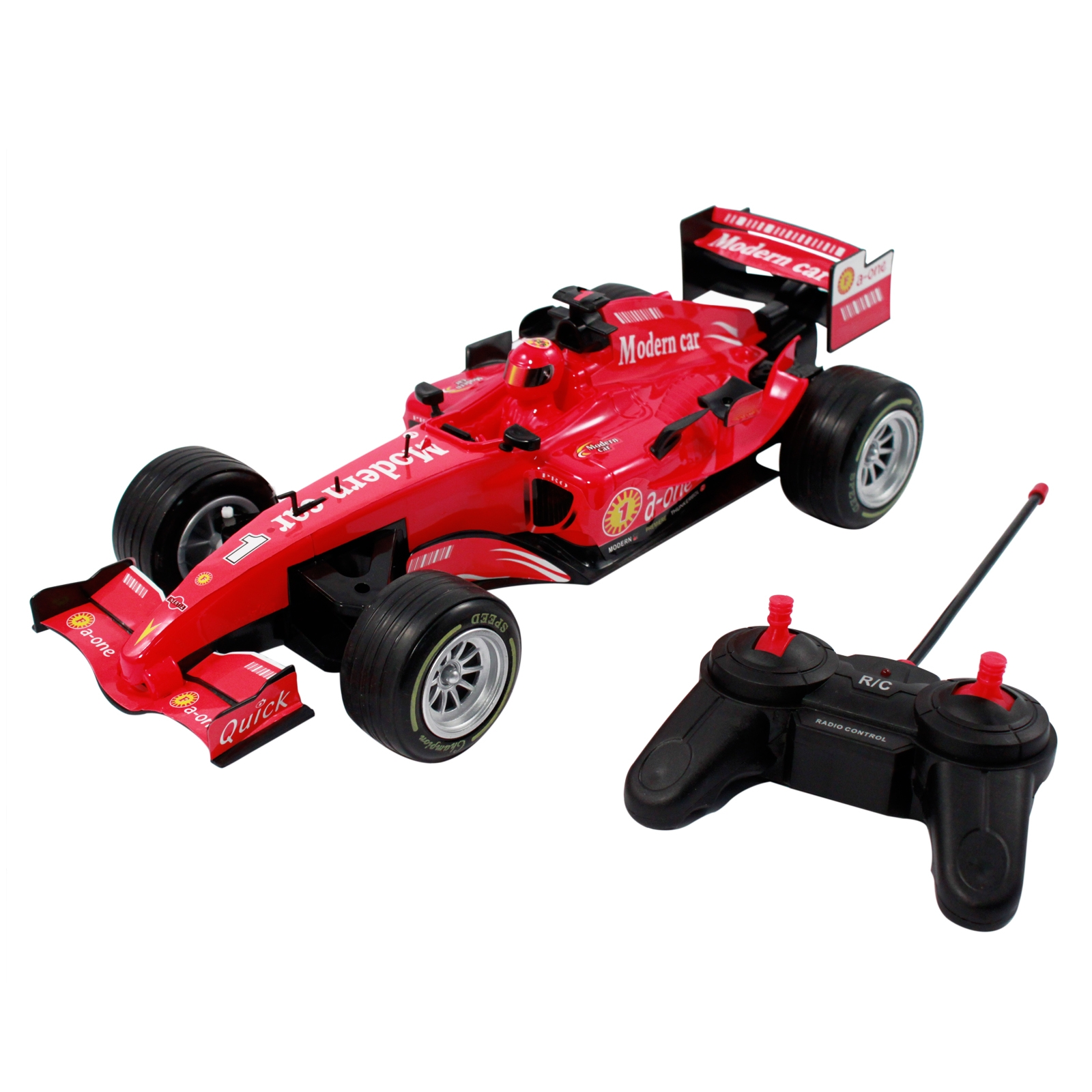 Speedy remote control red Indy race car for kids and boys