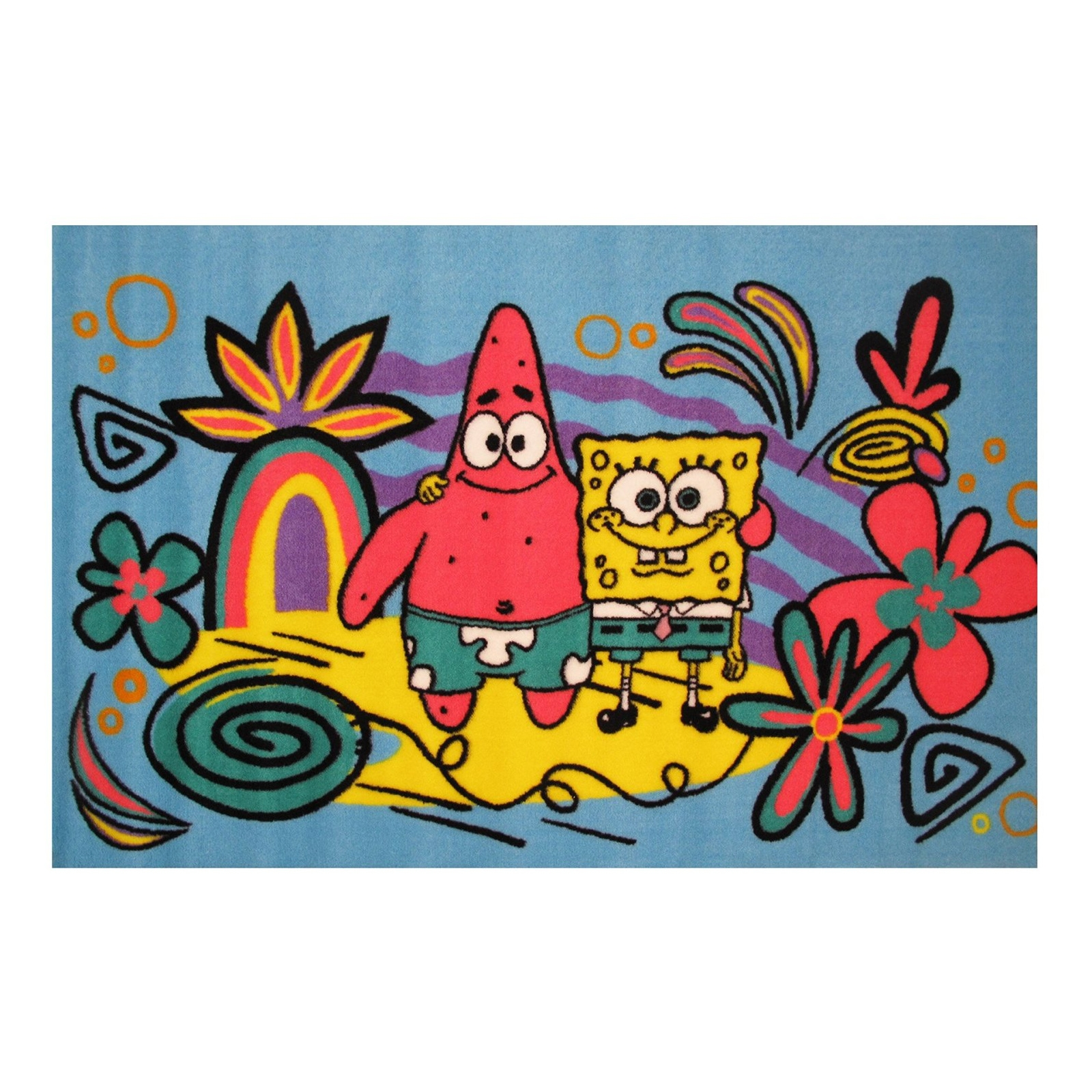 Spongebob and Patrick Bikini Bottom Fun Rug