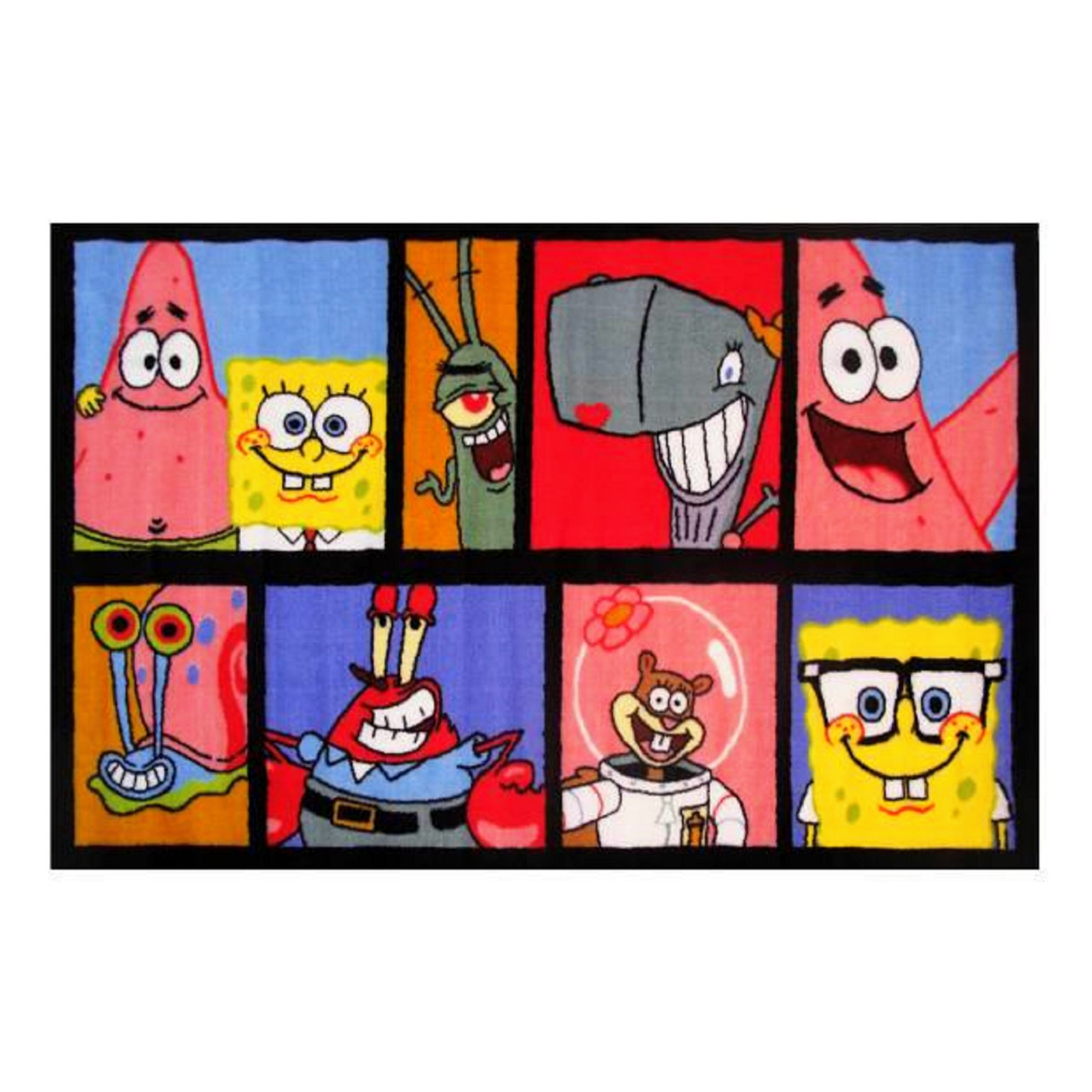 Spongebob Characters Fun Rugs Photo Comic Strip Area Rug Medium