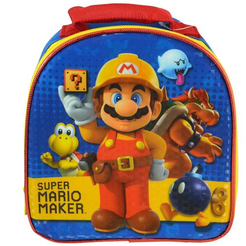 Nintendo Super Mario Zipper Lunch Bag Featuring Mario and Koopa