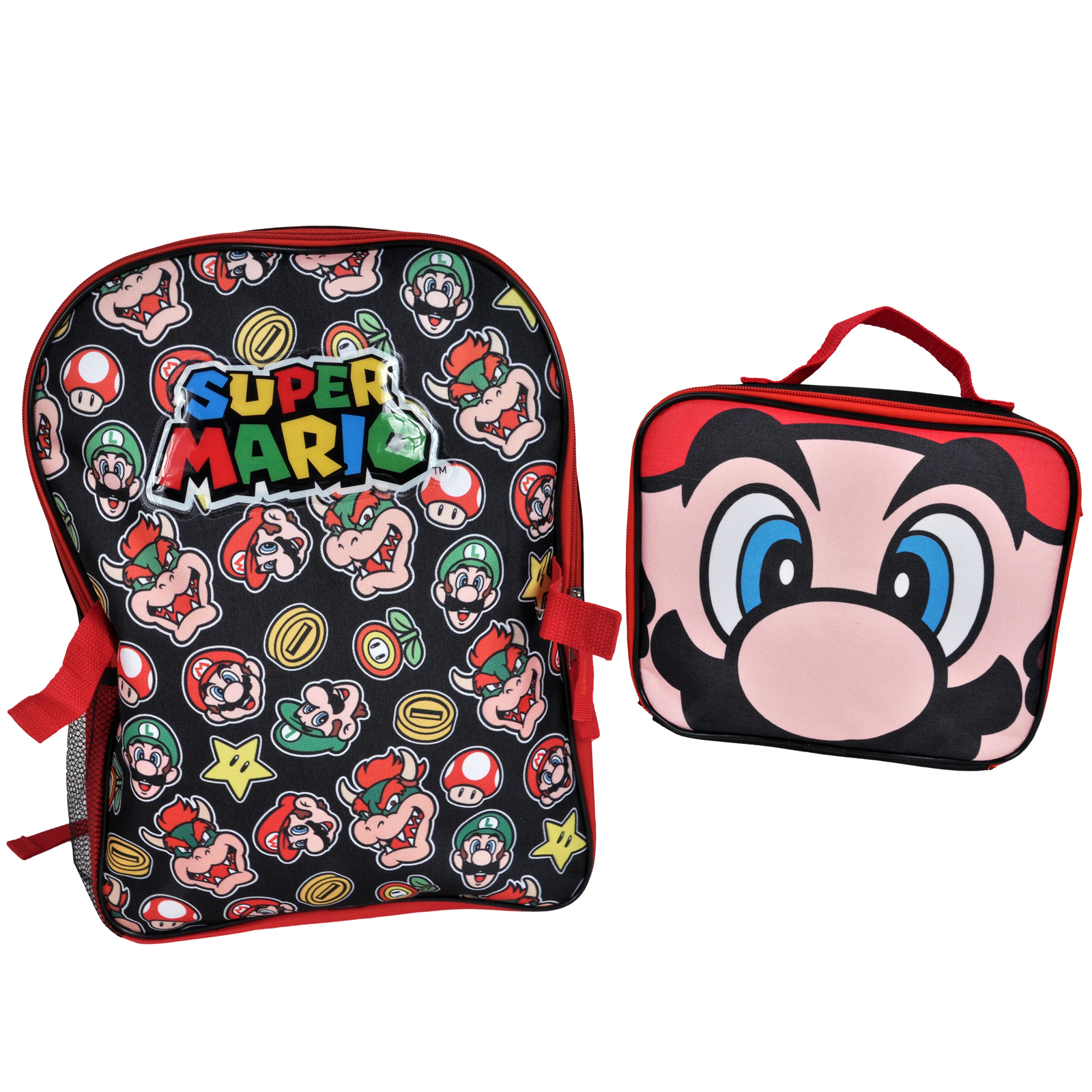 Detachable Mario Backpack and Lunch Pack Combo