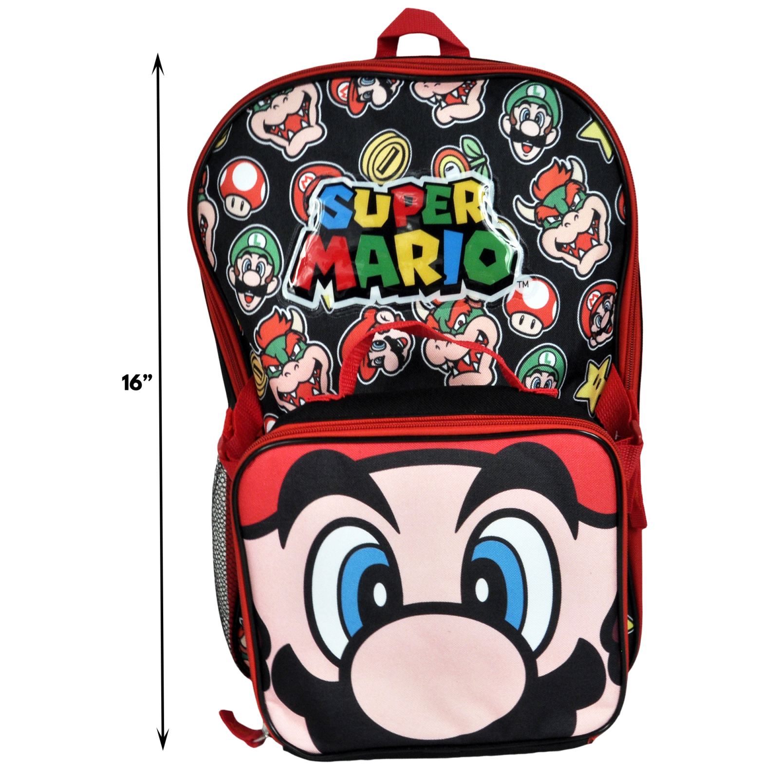 Super Mario Bros Backpack Scaling