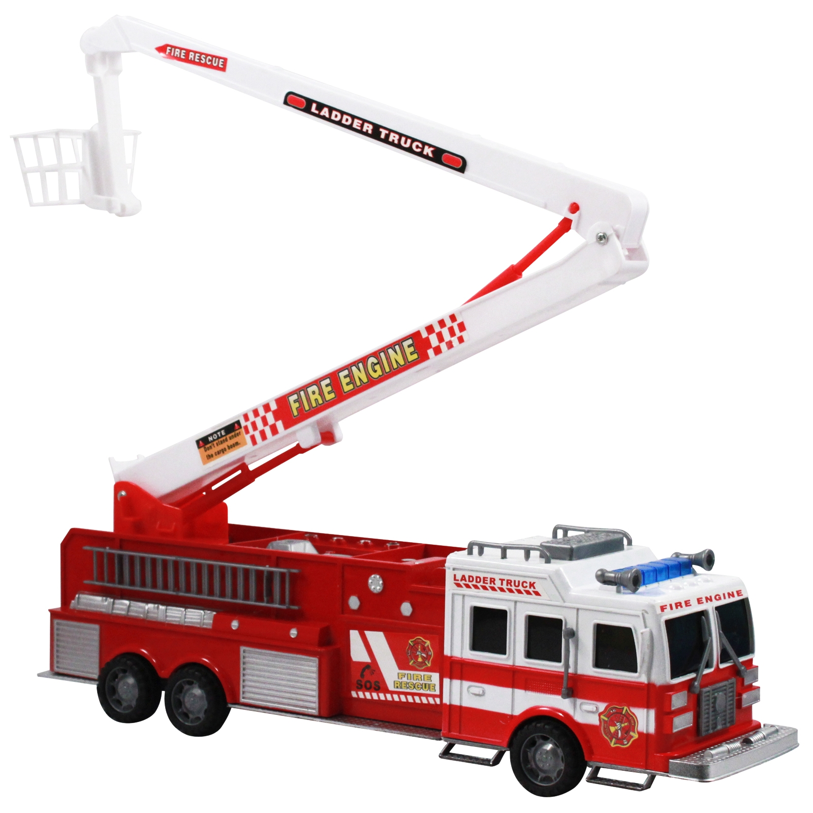 """Friction Power Fire Truck Toy 17"""" Firefighter Rescue Engine"""