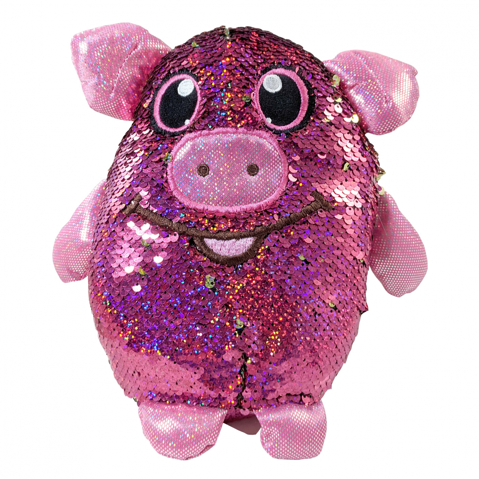 Shimmeez Polly Pig Reversible Sequin Plush Stuffed Animal