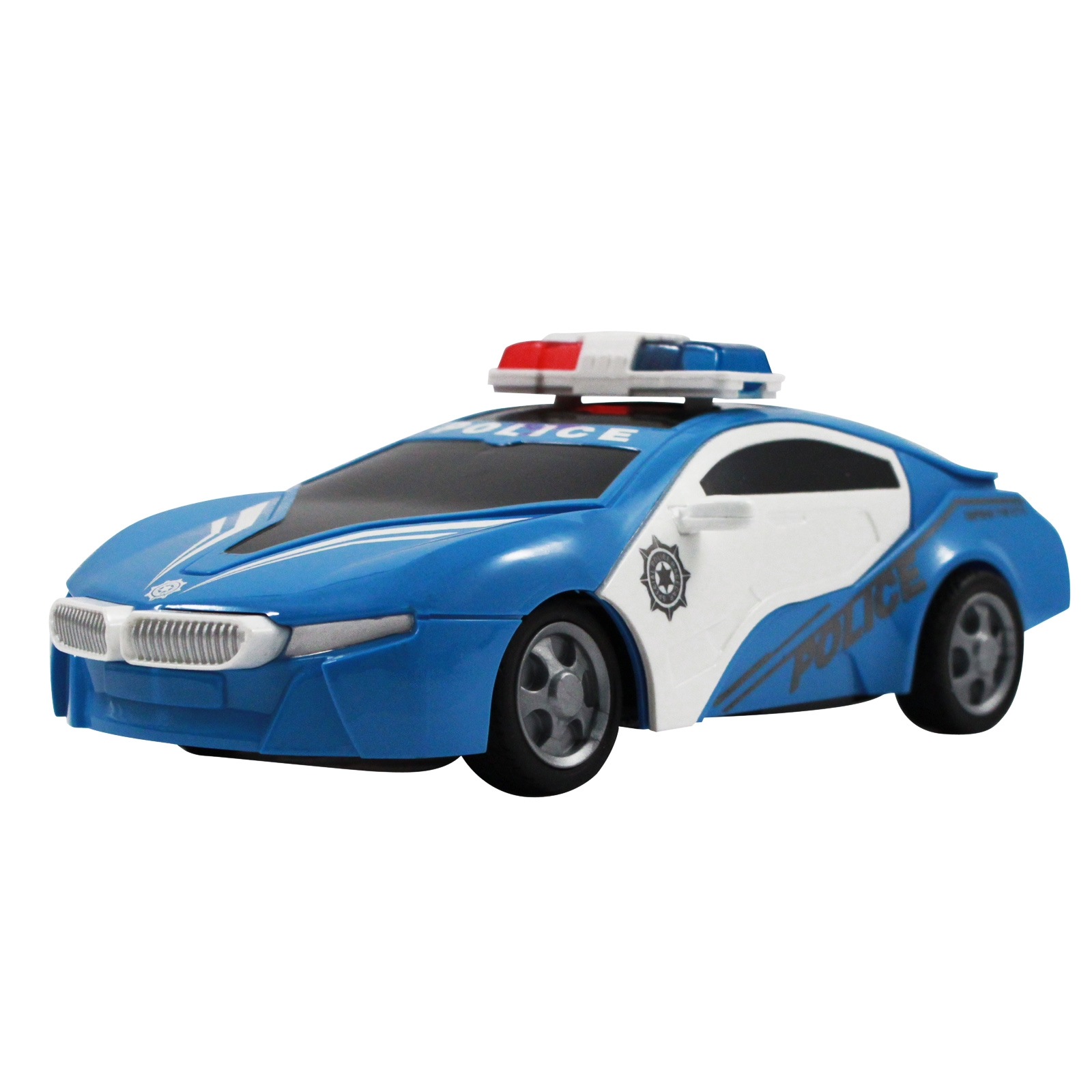 Blue Remote Control Police Fast Action Car Cop Vechicle Boys Toy RC