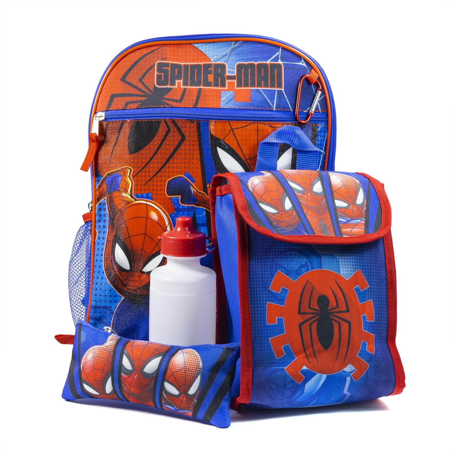 Marvel Spiderman 16 Inch Kids Backpack Set 5pc