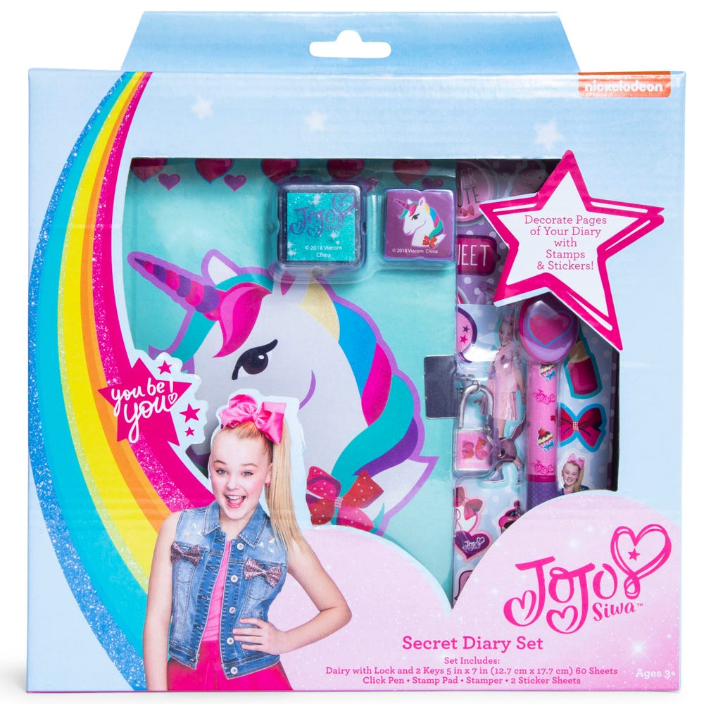 Nickelodeon JoJo Siwa Girls Locking Diary with Pen Stickers