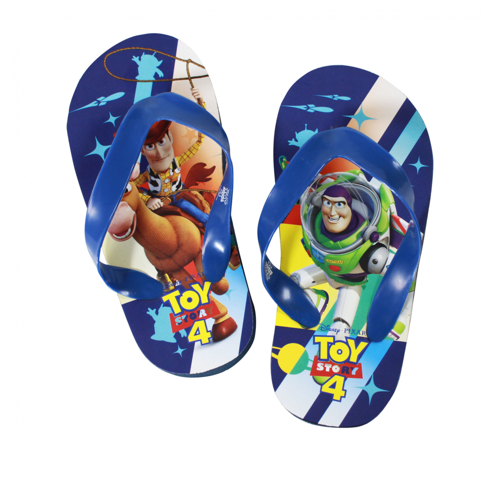 Disney Pixar Toy Story 4 Kids Sandals Blue Strap Medium 7/8