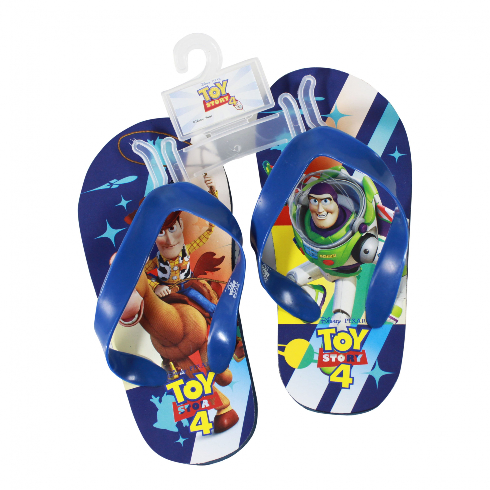 Disney Pixar Toy Story 4 Kids Sandals Blue Strap Large 9/10