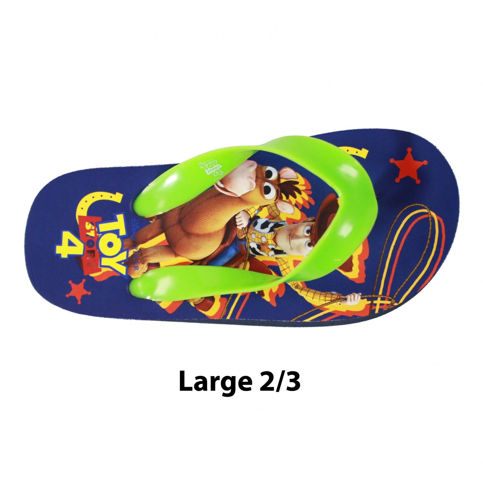 Disney Pixar Toy Story 4 Kids Sandals Green Strap Large 2/3
