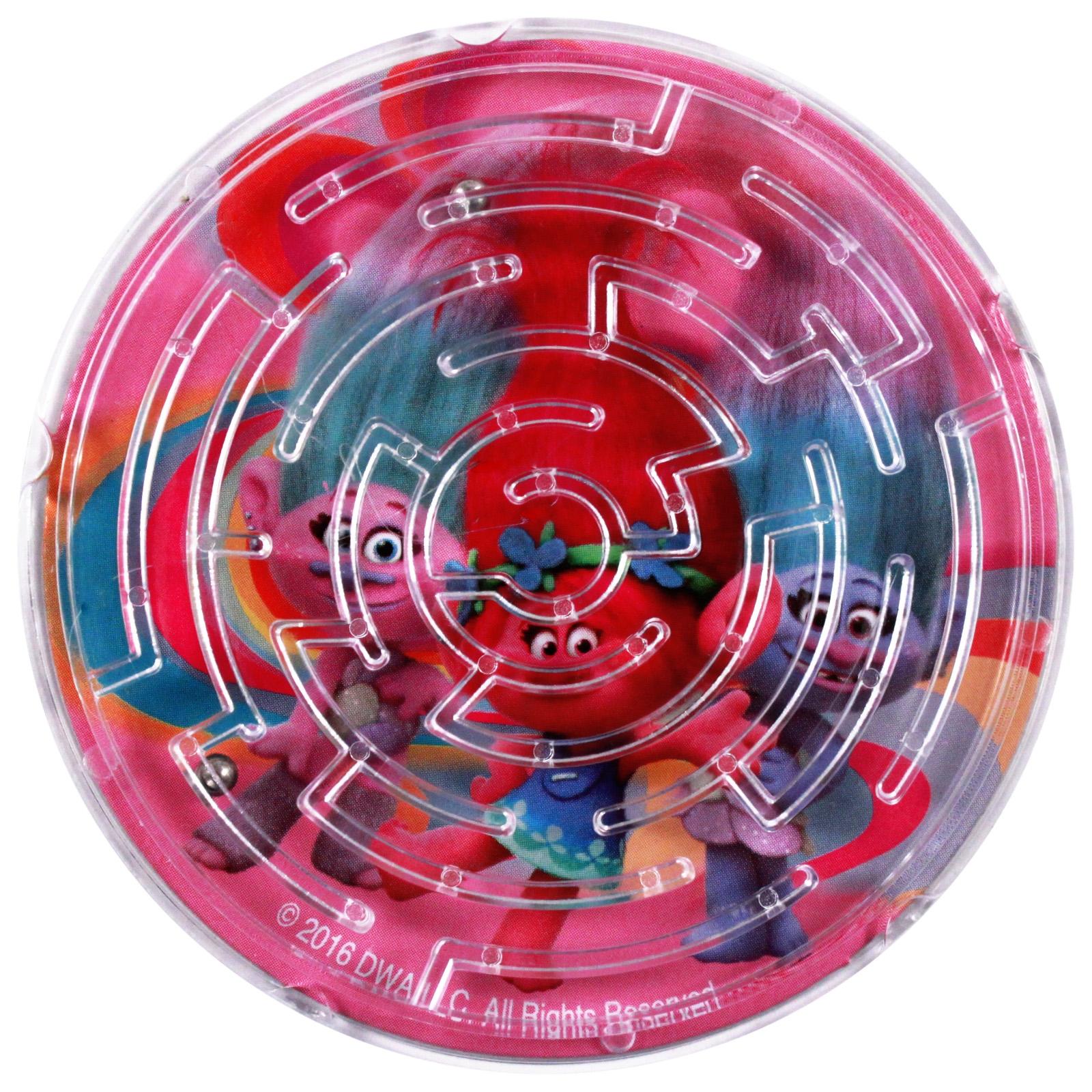 Dreamworks Trolls Lip Balm and Maze Puzzle Travel Accessory Gift Set