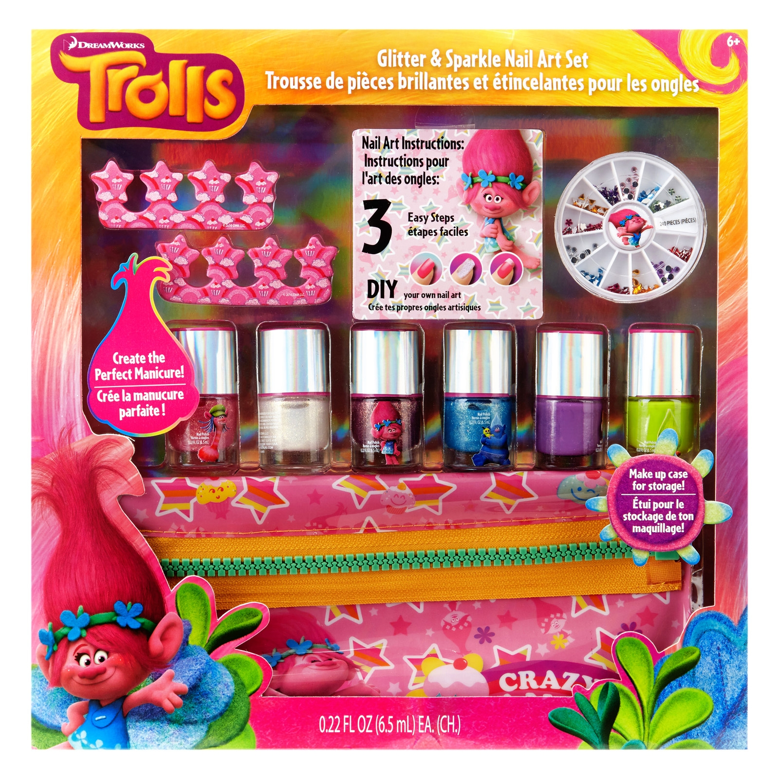 Dreamworks Trolls DIY Nail Art Tutorial 11pc Kit