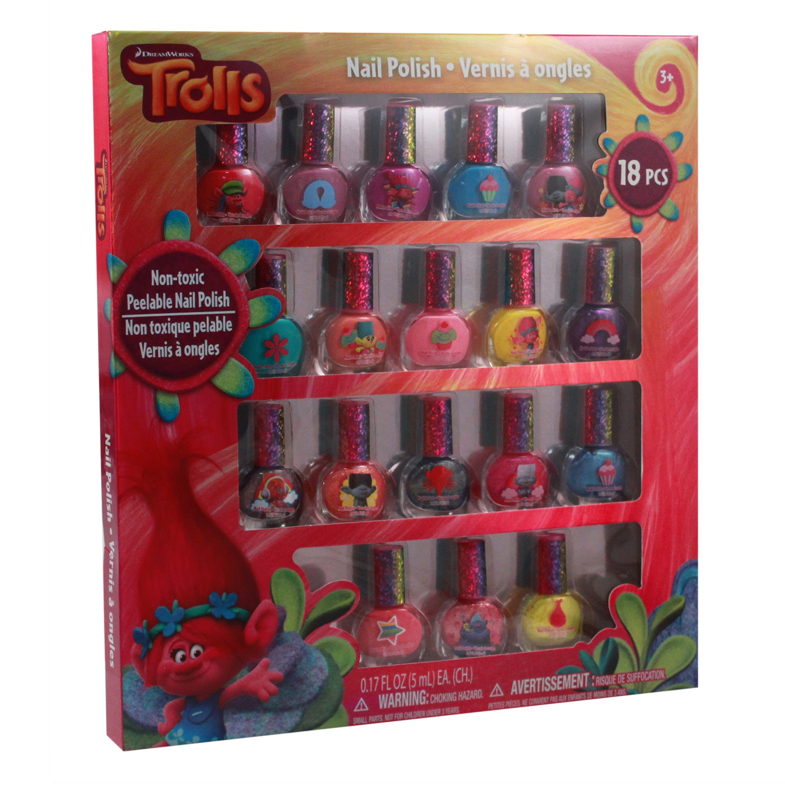 Dreamworks Trolls Dress-up 18 Piece Nail Polish Gift Set