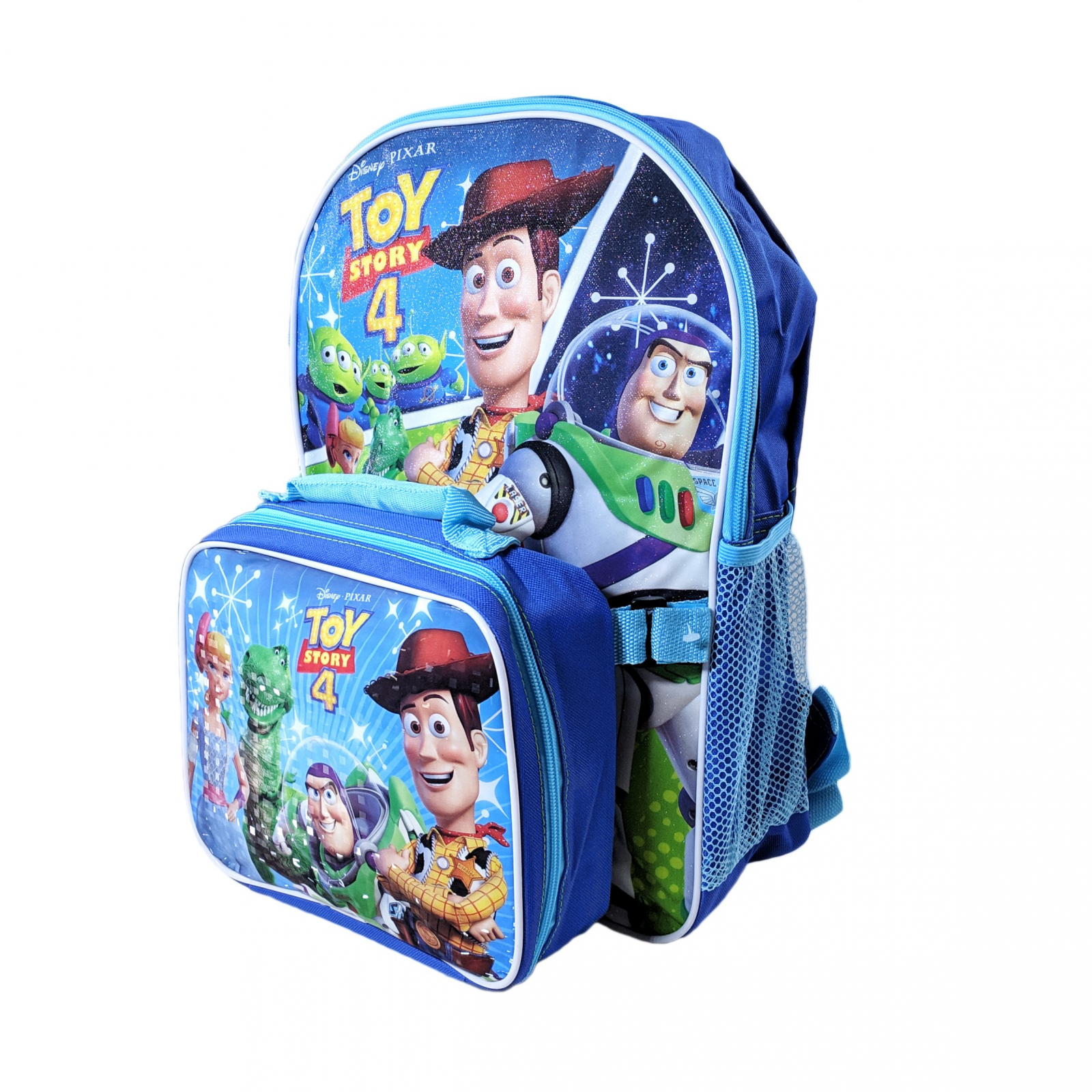 Disney Pixar Toy Story 4 Kids School Backpack with Lunch Bag Set Travel Tote