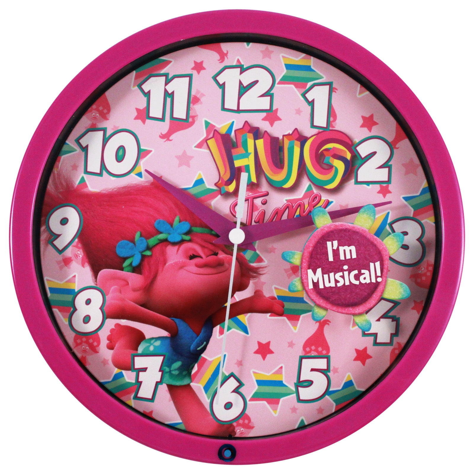 Wall clocks for kids rooms dreamworks trolls 8 inch musical wall clock kids room decor amipublicfo Gallery