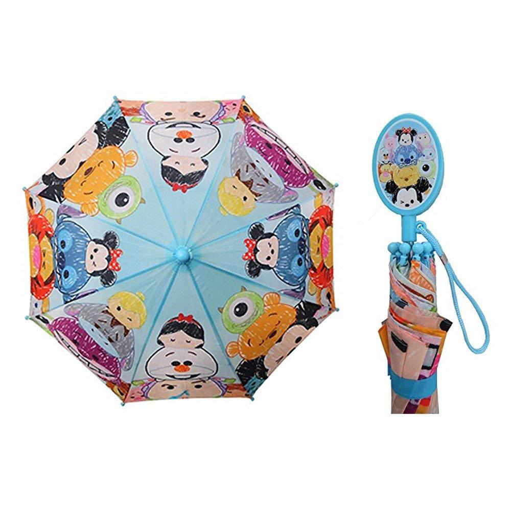 Disney Friends Tsum Tsum Cartoons Character Kids Umbrella Outdoor Parasol Blue