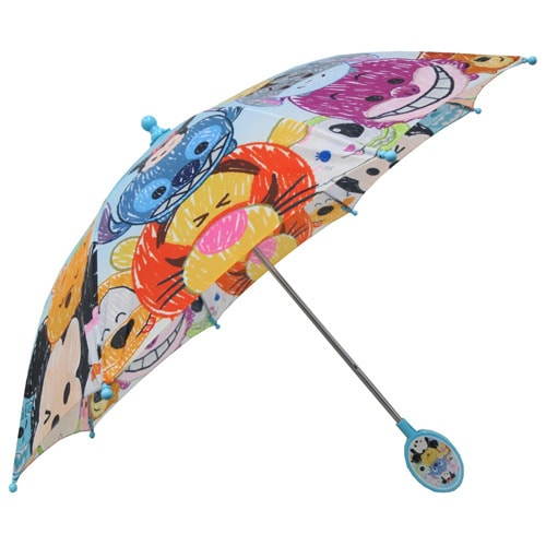 Disney Friends Tsum Tsum Cartoons Character Kids Umbrella Outdoor Parasol Blue