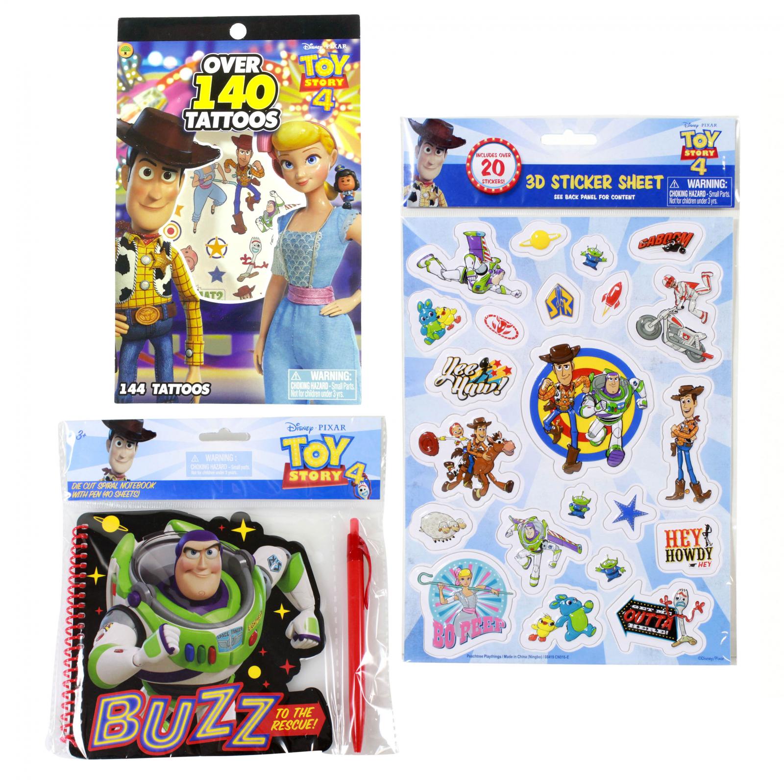 Disney Pixar Toy Story 4 Kids Activity Gift Set 4 Pieces