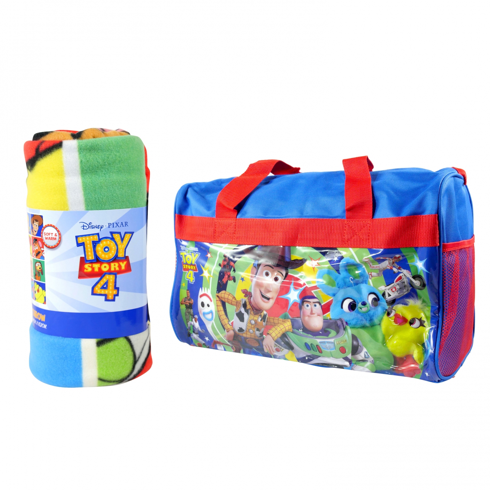 Disney Pixar Toy Story 4 Kids Sleepover Gift Set Blanket Bag