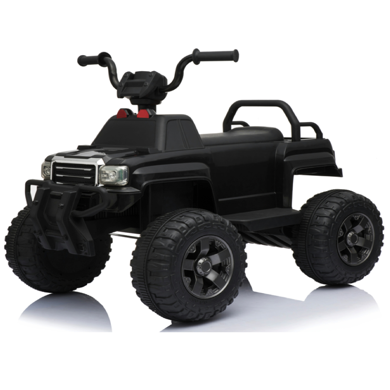 KidPlay Products Kids Ride On Car Utility Quad 12V Battery Powered Rider - Black