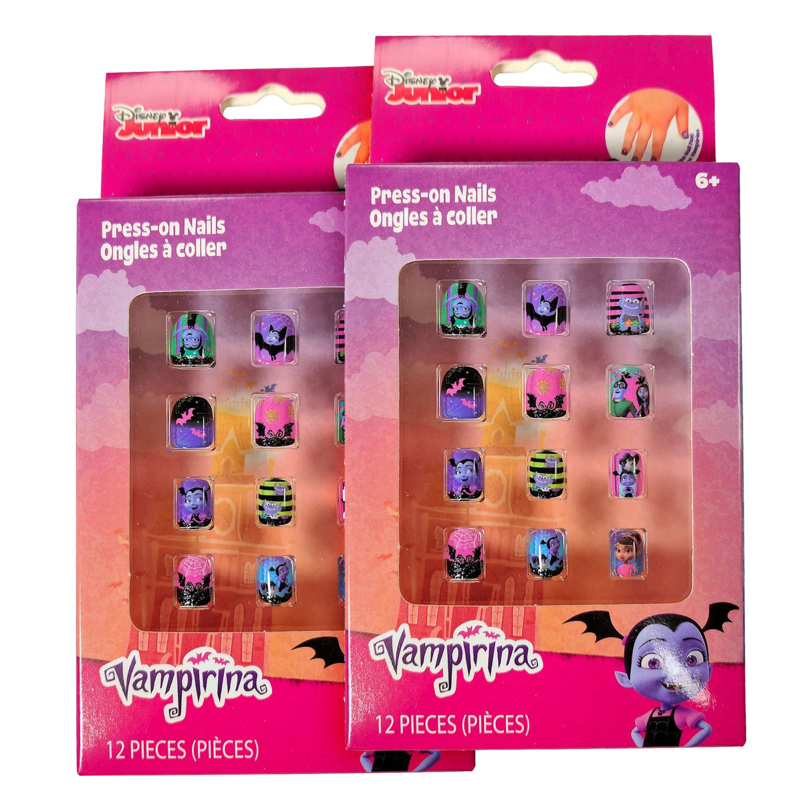 Vampirina Kids Press On Nails 12 Piece Set - 2 Pack