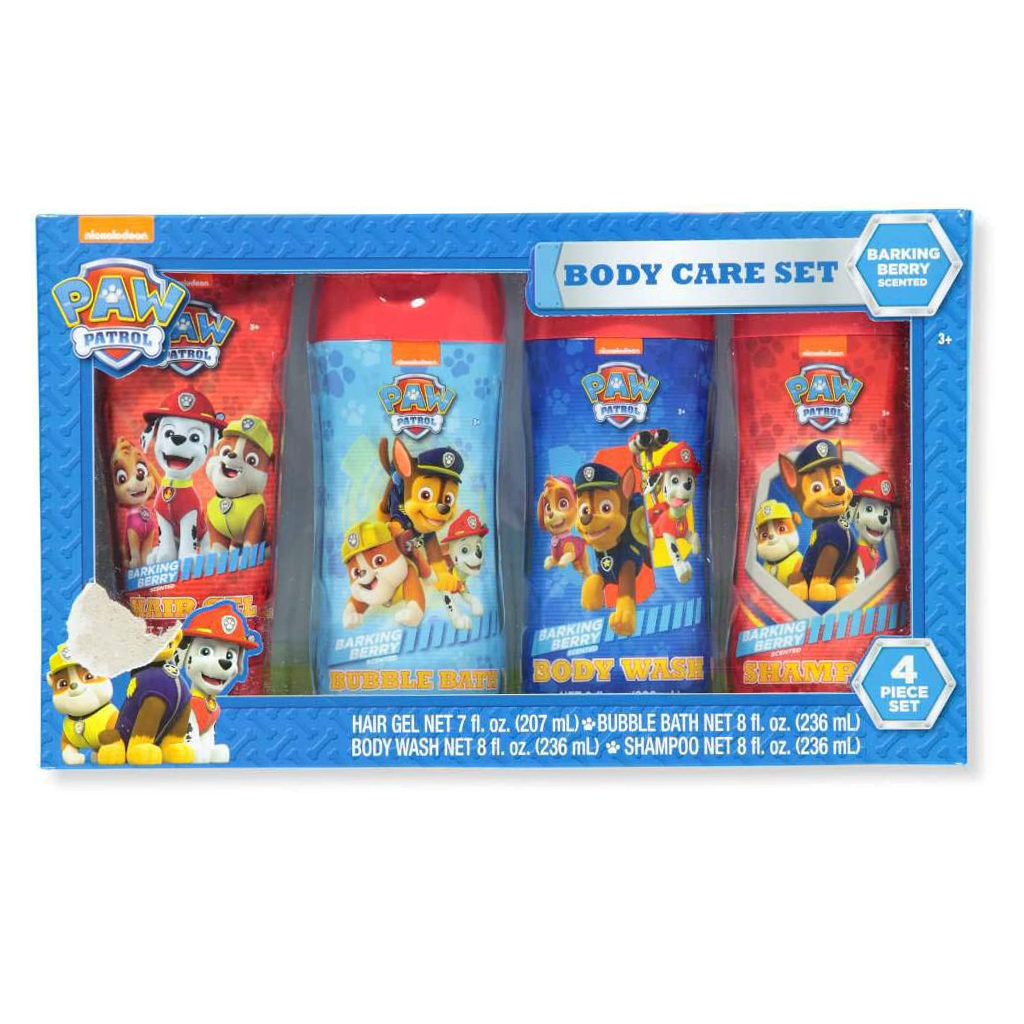 Nickelodeon 4 Piece Paw Patrol Complete Kids Bath Care Set