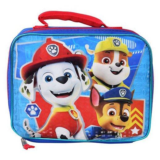 Paw Patrol Kids Nylon Lunch Bag Zipper Closure Top
