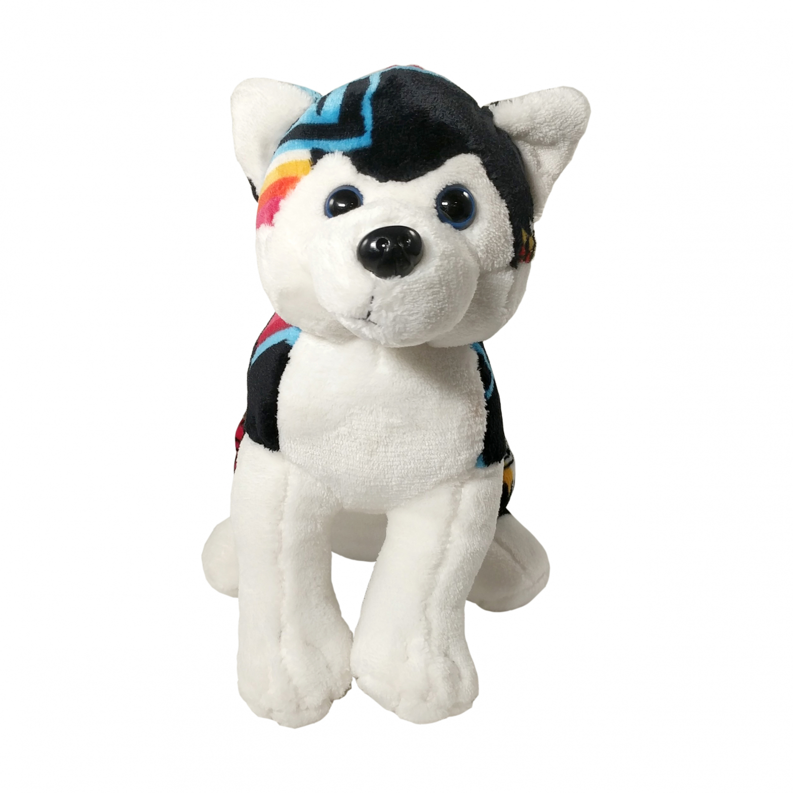TychoTyke Stuffed Animal Husky Plush Toy Southwest Black