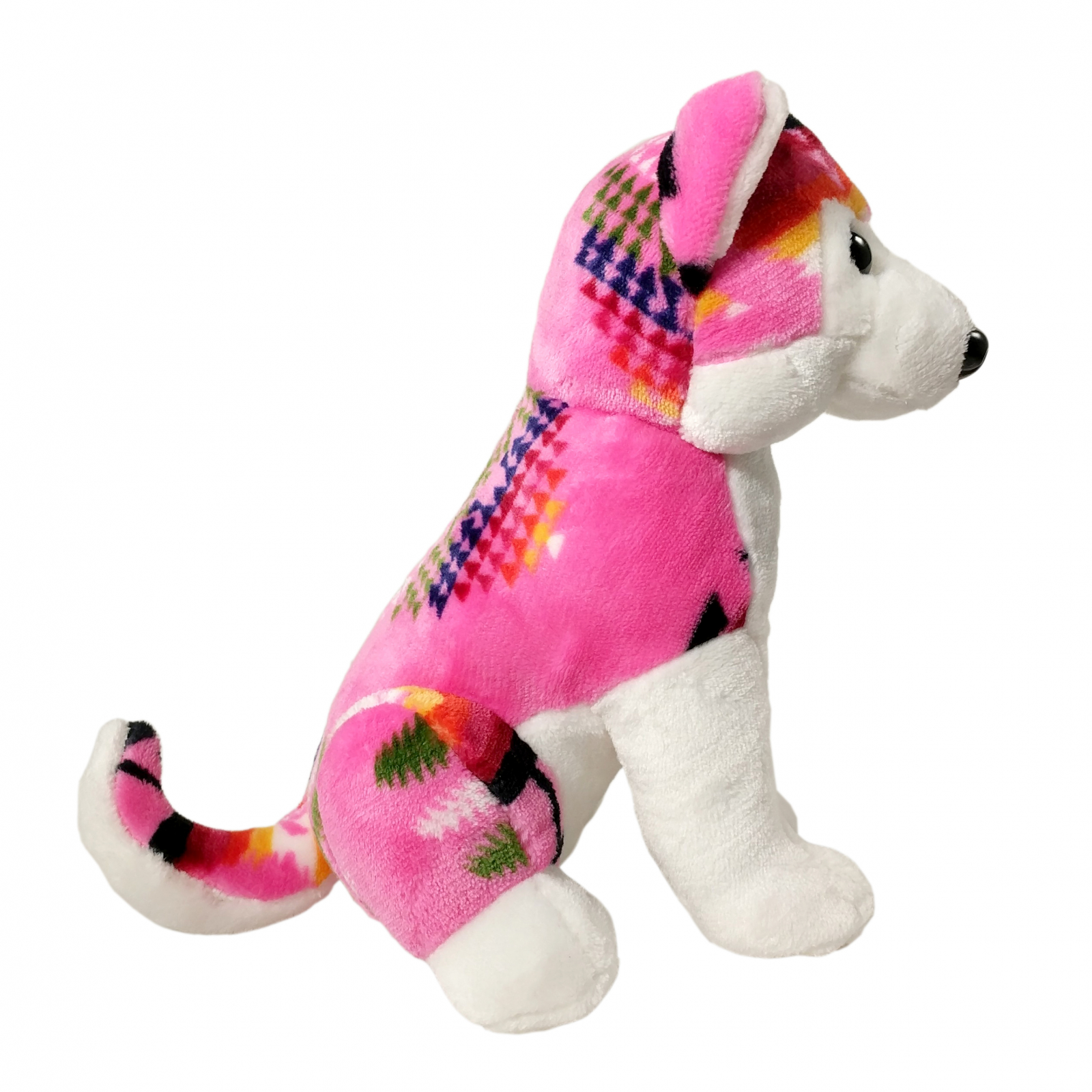 TychoTyke Stuffed Animal Husky Plush Toy Southwest Pink